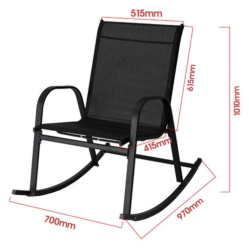 Arden High Back Outdoor Rocking Chair