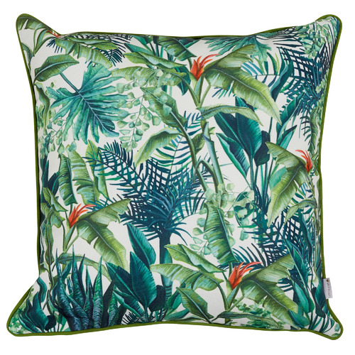 Botanical Cotton-Blend Outdoor Cushion