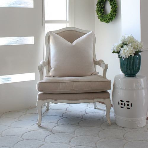 Neutral Bianca Linen-Blend Cushion Cover