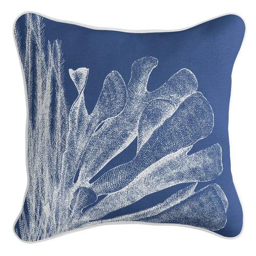Blue Sea Side Linen-Blend Cushion Cover