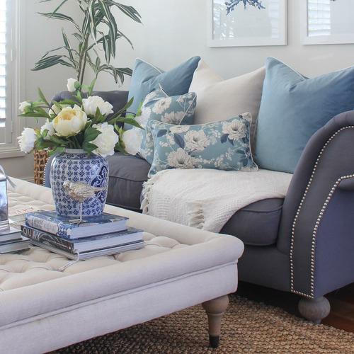 Elizabeth Linen-Blend Cushion Cover