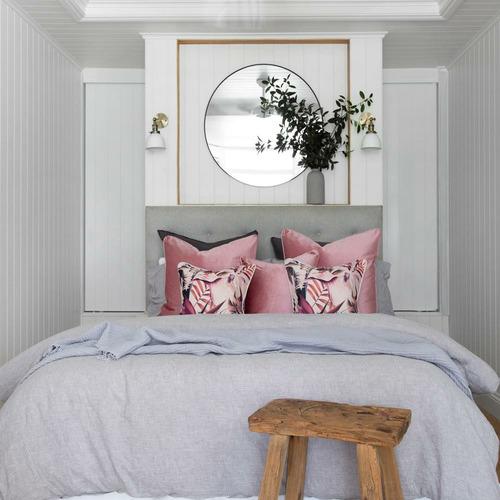 Blushing Paradise Linen-Blend Cushion Cover