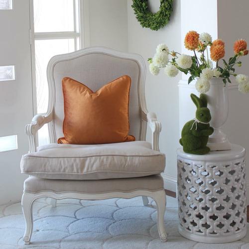 Velvet Linen-Blend Cushion Cover