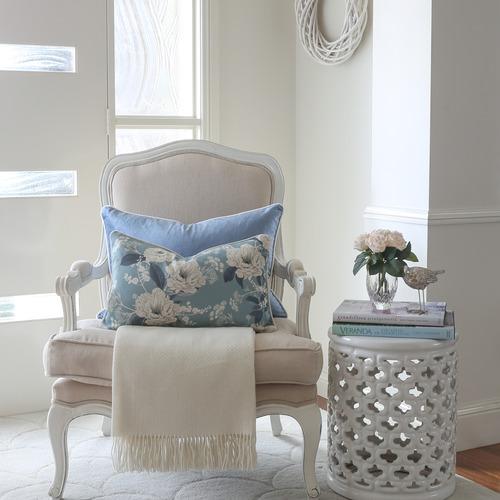 Elizabeth Rectangular Linen-Blend Cushion Cover
