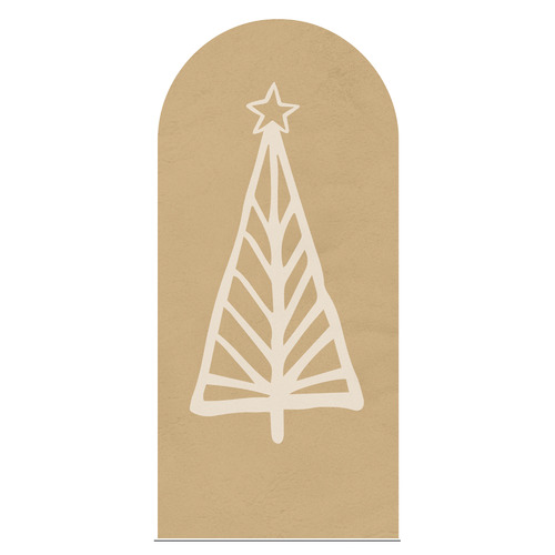 Sage Christmas Evergreen Tree Reusable Decal Archway
