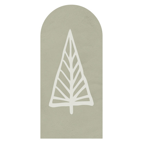 Gold Christmas Evergreen Tree Reusable Decal Archway