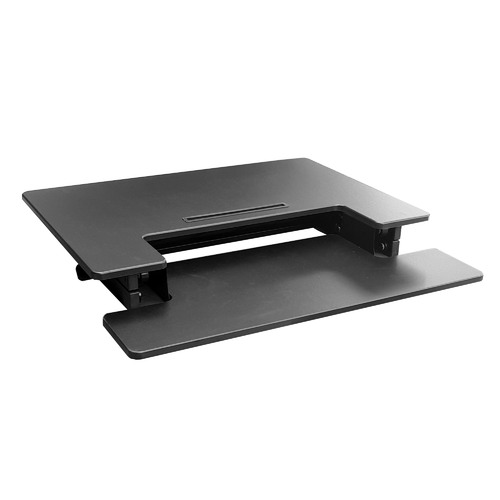 Black Hilift Sit & Stand Desk with Keyboard Tray