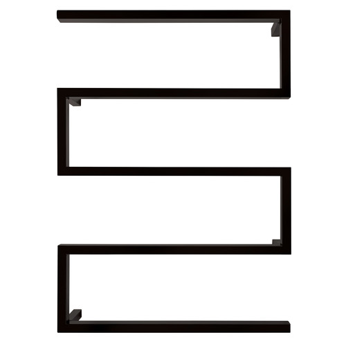 Black Designer Snake Stainless Steel Heated Towel Rail