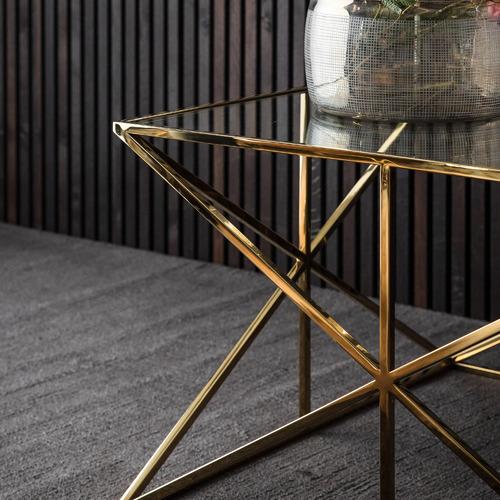 Maui Glass & Steel Coffee Table