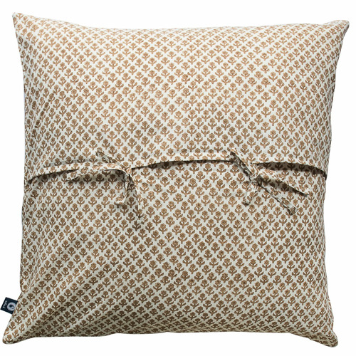 Beige Quilted European Cushion Cover