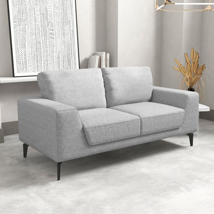 Light Grey Hanna 2 Seater Sofa