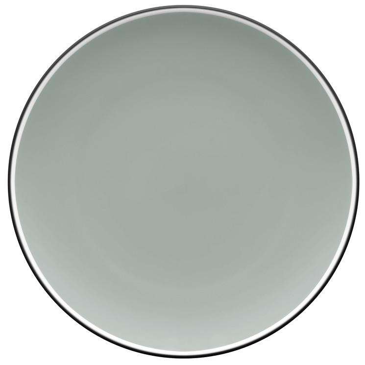 ColorTrio Graphite 21cm Coupe Entree Plates (Set of 4)