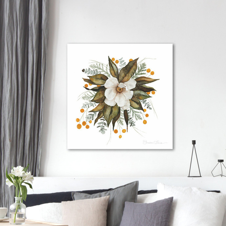 Magnolia Bouquet Printed Wall Art