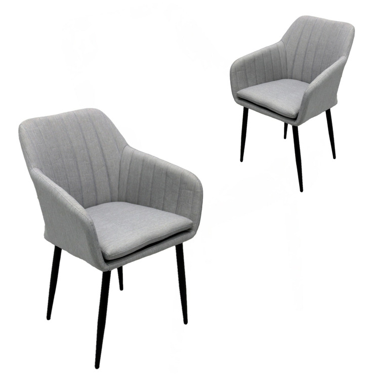 Light Grey Marcus Outdoor Dining Chairs (Set of 2)