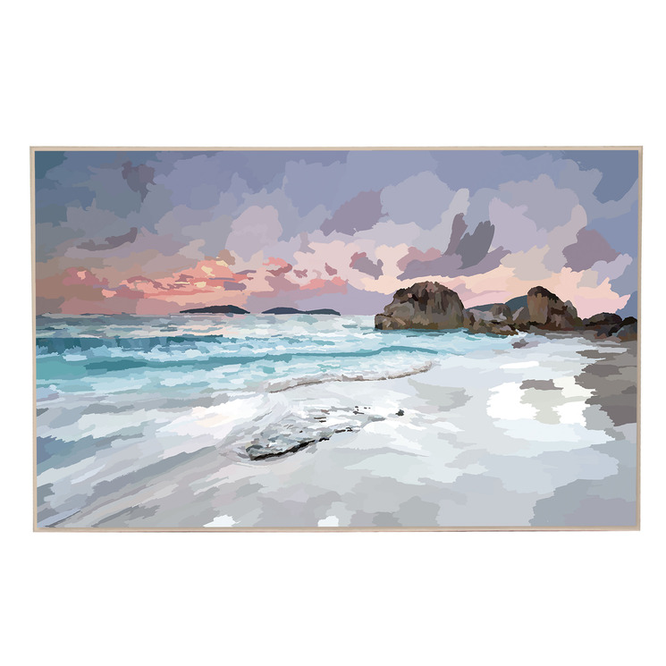 Sunset Coastline Canvas Wall Art
