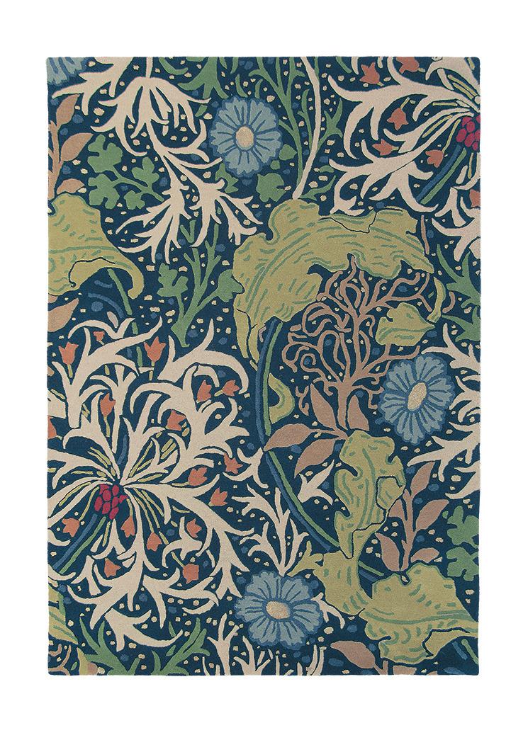 Multi-Coloured Morris & Co Hand-Tufted Wool-Blend Rug