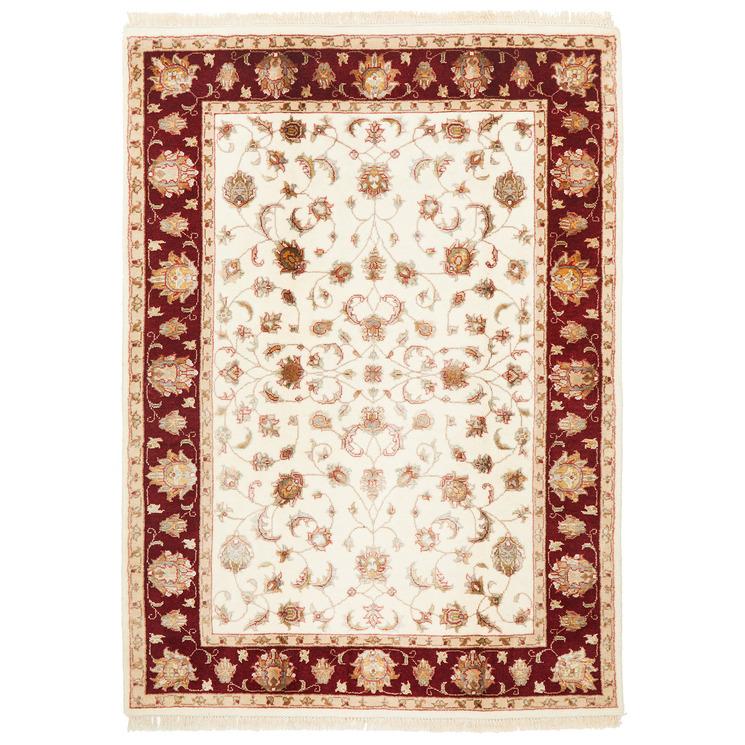 170 x 117cm Indian Hand-Knotted Wool & Silk Narayan Rug
