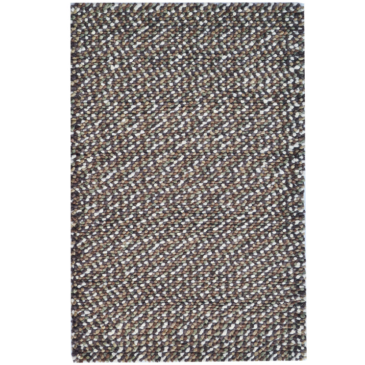 Brown Jelly Bean Felted Wool-Blend Rug