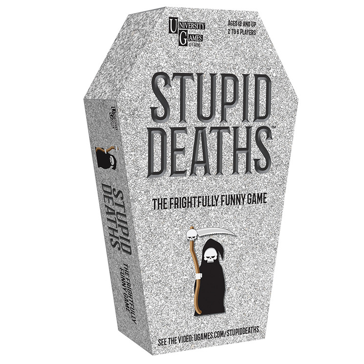 University Games Stupid Deaths Board Game