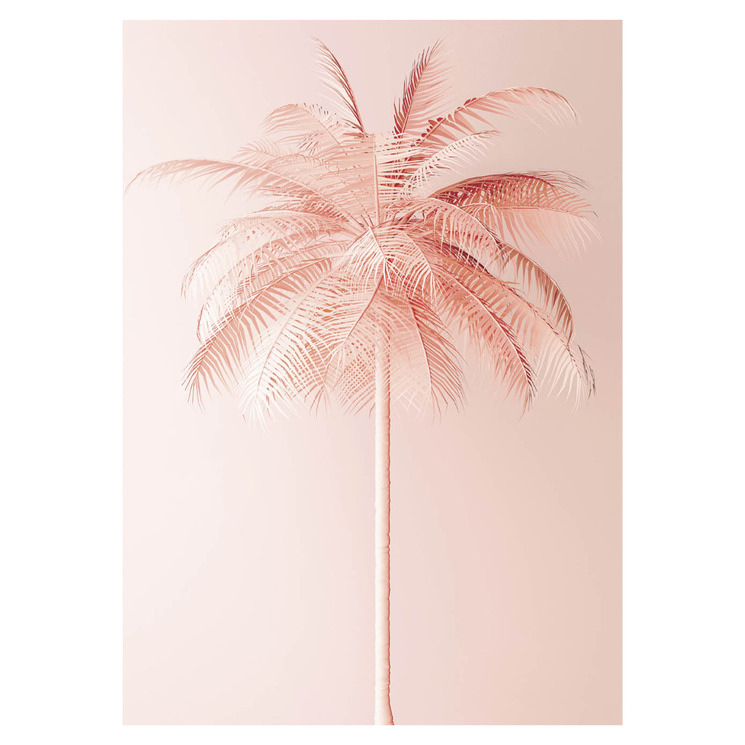 Peachy Palms Printed Wall Art