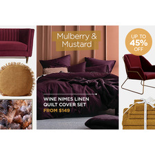 Colours we love - Mulberry & Mustard