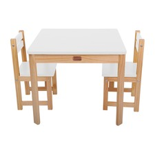 3 Piece Little Boss Pine Wood Table & Chairs Set