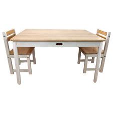 Tikk Tokk Kids' Little Boss Pine Wood Table & Chair Set