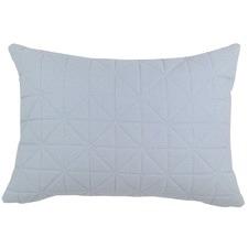 Quilted Powder Blue Rectangular Cushion