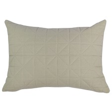 Quilted Beige Rectangular Cushion