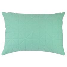 Quilted Aqua Rectangular Cushion