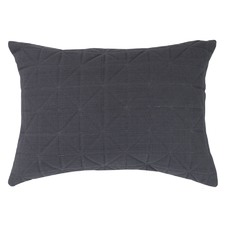 Quilted Charcoal Rectangular Cushion