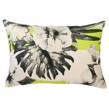 Hula Moon Yellow Stripe Indoor/Outdoor Cushion
