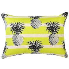 Mono Pineapples Yellow Stripe Cushion