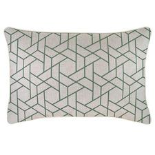 Green Milan Piped Rectangular Outdoor Cushion
