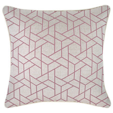 Rose Milan Piped Square Outdoor Cushion