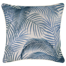 Blue Seminyak Piped Square Outdoor Cushion
