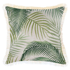 Green Seminyak Coastal Fringed Square Cushion