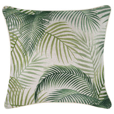 Green Seminyak Piped Square Outdoor Cushion