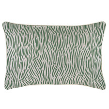 Green Wild Piped Rectangular Outdoor Cushion