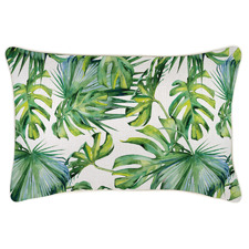 Natural Botanical Piped Outdoor Cushion