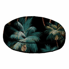 Black Palm Trees Piped Outdoor Cushion