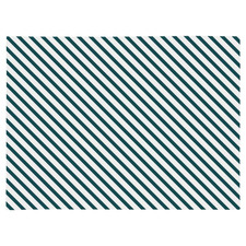 Teal Side Stripe Placemats (Set of 4)