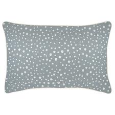 White Piped Edge Lunar Rectangular Outdoor Cushion