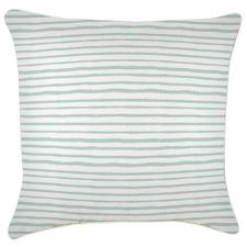 White Piped Edge Stripe Outdoor Cushion