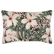 Piped Edge Tropical Jungle Rectangular Outdoor Cushion