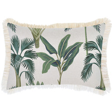 Coastal Fringe Del Coco Rectangular Outdoor Cushion