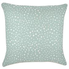 White Piped Edge Lunar Square Outdoor Cushion