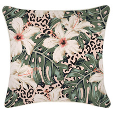 Piped Edge Tropical Jungle Outdoor Cushion