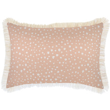 White Coastal Fringe Lunar Rectangular Outdoor Cushion