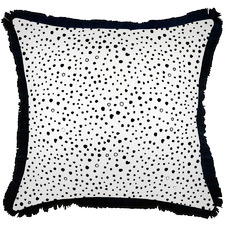 Black Coastal Fringe Lunar Square Outdoor Cushion